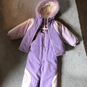 Baby Girl Snow Suit with Coat
